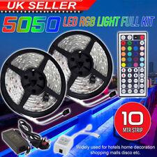10M RGB 5050 LED Strip Light With IR Remote Back Light 12V USB Colour Changing Z