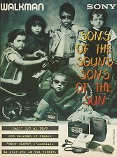 X7407 Walkman SONY - Pubblicità del 1996 - Vintage advertising