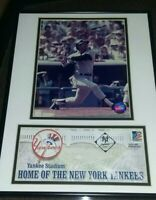 "New York Yankees Reggie Jackson Photo & Yankee stadium letter 16""x 12"" framed!"