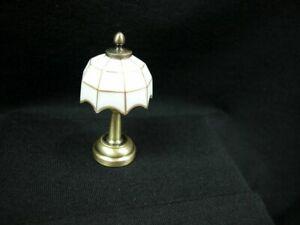 Heidi Ott Dollhouse Miniature 1:12 Scale LED Battery White Table Lamp #YL1614