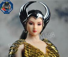 """Custom 1:6 Scale Silver Helmet Mode For 12"""" PH Women Body Doll Toys"""