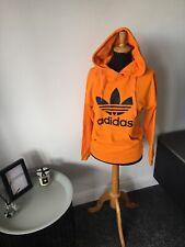 Women's Adidas Originals Bright Orange Hoodie Jumper Jacket UK Size 4 - 6