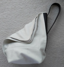 Bag tote pack purse L.A.M.B. by Gwen Stefani white black leather summer ready!!