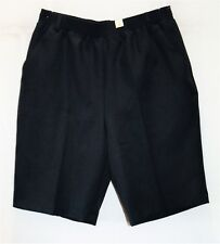 MILLERS Brand Ink Blue Elastic Waist Tailored Smart Shorts Size 10 BNWT #TF69