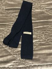 BURBERRY Black Silk Skinny Knitted Tie - Made In Italy