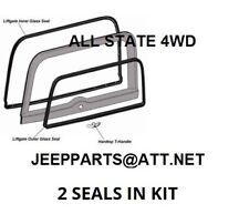 JEEP PARTS CJ7 FACTORY HARDTOP LIFTGATE FRAME SEAL & GLASS WEATHER STRIP SEALS