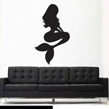 Wall Vinyl Sticker Decal Sea Ocean Mermaid Princess Silhouette Nymph (Z2752)