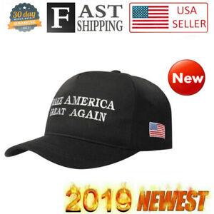 Donald Trump Hat Make America Great Again 2020 Campaign Republican Black Cap USA