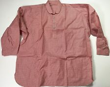 CIVIL WAR US UNION CSA CONFEDERATE FOUR BUTTON RED CHECKERED SHIRT-LARGE