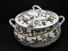 Crown Staffordshire England Hunting Scene Soup Tureen