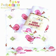 Baby Swaddle Blanket Muslin Cotton Receiving Nursing Carseat Cover Shower Gift