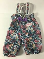 Vtg. 1993 Playskool My Buddy KID SISTER DOLL REPLACEMENT FLORAL OVERALLS Jumper