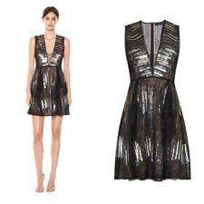 $398 NWT BCBG MAXAZRIA Julissa Sequin And Lace Dress Black Size 6