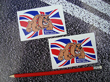 BRITISH BULLDOG STICKERS UNION JACK / ENGLAND BUMPER STICKER  GB X 2
