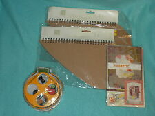 SCRAPBOOKING TWO HEART ALBUMS + MINI BOOK KIT + HALLOWEEN EMBELLISHMENTS