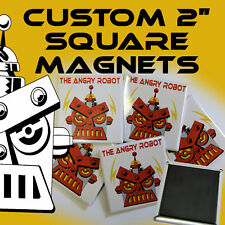 25 Custom Made Personalized  2 inch SQUARE Magnets 2""