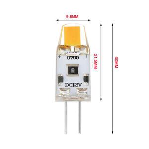 LED G4 Lamp Bulb DC12V High Brightness Standard Capsule COB Clear Silicone