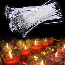 "DIY 100PCS 15 CM /6"" CANDLE WICKS PRE WAXED WITH SUSTAINERS COTTON"