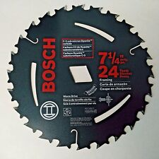 "Bosch WD724 7-1/4"" x 24 Tooth Circular Saw Blade Arbor Diamond Knockout Only"