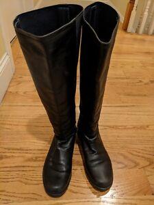 womens Stuart Weitzman boots size 7 M black kneel high stretch leather