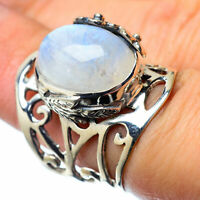 Large Rainbow Moonstone 925 Sterling Silver Ring Size 6.5 Ana Co Jewelry R28176F