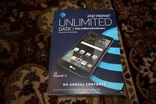 "NEW UNLOCKED GSM AT&T GoPhone LG Phoenix 3 5"" 4G LTE 16GB Black M150 Prepaid"