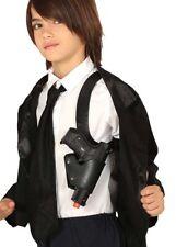 Childrens Police Black Plastic Shoulder Holster
