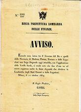 Y271-LOMBARDIA 1859-APPLICAZIONE BILLET D'AVION SARDAIGNE