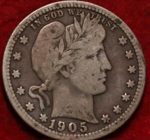 1905 Philadelphia Mint Silver Barber Quarter