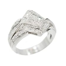 18K White Gold 0.70Ct Diamond Ring 10.1 Grams Ring Size 7.5