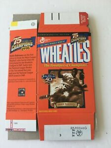 Mini Wheaties box Jackie Robinson 75 years of champions empty - flat 1999
