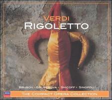 Verdi: Rigoletto ECD (CD, 2 Discs Decca)-Sinopoli/Shicoff/Bruson/Gruberova/Lloyd