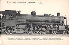 CPA THEME TRAIN LOCOMOTIVES FRANCAISES EST MACHINE N°2902 ATLANTIC