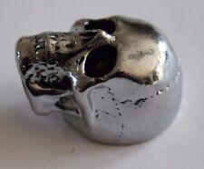 Metallknopf Potiknopf Knopf Skull Totenkopf Poti Q-parts chrom