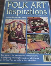 Folk Art Inspirations by Deborah Kneen/ step by step painting instruction mag
