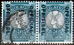 South Africa 1940 1/2d Grey & Blue-Green SG031a Fine Used (13)