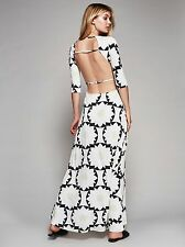 FREE PEOPLE Heartbreaker Maxi Dress Print Open Back Single Straps XS SOLD OUT