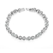 Tennis Bracelet Made with Swarovski Elements in White Gold Plated Plated