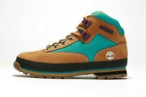 TIMBERLAND Men's Euro Hiker F/L Boot A2NK3 (M) Wheat/Teal (msrp: $110)