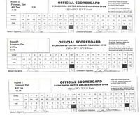 Lot 3 Rounds Tournament PGA Golf Scorecards Hawaiian Open Pro: Dan Forsman Auto