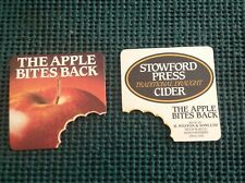 Beer Brewery Coaster: STOWFORD PRESS Traditional Draught Cider Apple Bites Back~