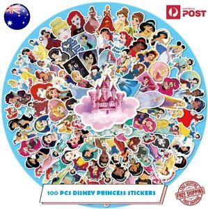 100 Pcs Disney Princess Stickers