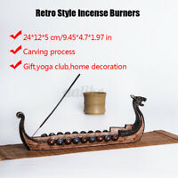 Retro Style Incense Burners Traditional Vikings Dragon Boat Incense Stick Holder
