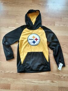 Pittsburgh Steelers NFL Team Apparel Youth Hoodie Medium 10-12 Brand New With...