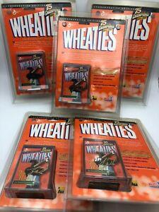 (5)x Tiger Woods 24K Gold Signature 1999 Wheaties Mini Box Factory Golf Lot
