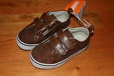 NWT Gymboree Woodland Party Size 7 Toddler Brown Faux Leather Tennis Shoes