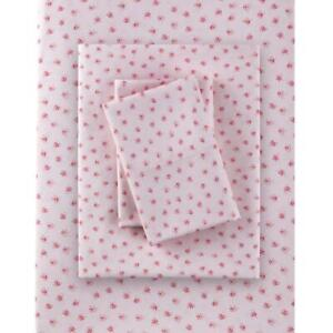Rachel Ashwell Simply Shabby Chic King Mon Amie Pink Floral Sheet Set Polyester