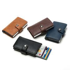 Мужские радиочастотная идентификация блокировки тонкий бумажник деньги клип ID кредитной карты держатель кожаный кошелек