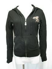 Harley Davidson Black 105th Anniversary Zip Up Hoodie Hooded Sweatshirt XS EUC