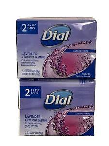 4PACK Dial Antibacterial Bar Soap - Lavender & Twilight Jasmine